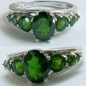 Green Chrome Diopside Silver 💍